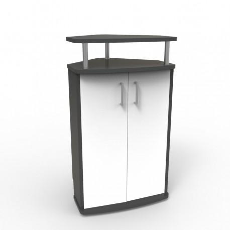 Meuble d'angle pour machine à café avec rangements et Livré Monté