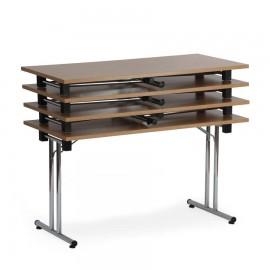 Table d'appoint pliable et empilable 180cm étant pratique et facile à installer dans une salle de réunion ou un bureau