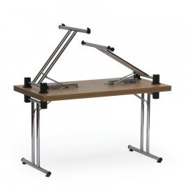Table pliable d appoint relevable et empilable en bois