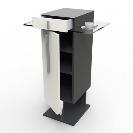 Meuble pour machine à café design blanc pour espace café et cuisine