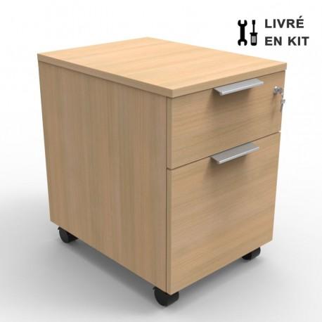Caisson bois rangement bureau entreprise et collectivité Livré en kit