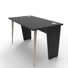 Bureau compact 120 cm en bois coloris au choix pour entreprise et école