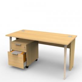 Bureau compact design chene clair se déclinant en plusieurs coloris au choix, bureau compact qui est fabriqué en France