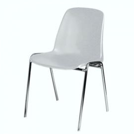 Chaise empilable et accrochable gris qui s'installe facilement et rapidement dans votre salle de conférence et réunion