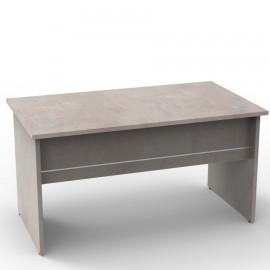 Bureau bois béton clair de dimensions 140 cm qui convient pour des salles de réunion et open space dans des entreprises