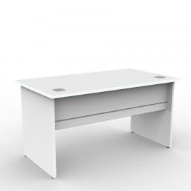 Bureau en bois blanc achat idéal de longueur 160 cm destiné à de grands espaces dans des bureaux et salles d'open space