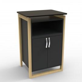Meuble machine a cafe noir de qualité professionnelle pour des entreprises qui souhaitent un meuble avec des matières en bois