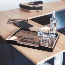 Plateau en bois idéal pour poser des accessores de votre espace café et convenant au meuble machine à café TANAO