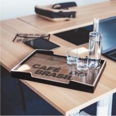 Plateau en bois pour meuble machine à café et espace café