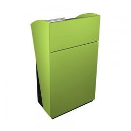 Pupitre de conference en bois couleur vert qui résiste aux rayures et aux chocs pour CHR / associations / collectivités