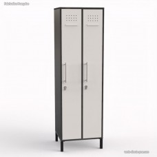 Vestiaire entreprise fabriqué en France en bois graphite largeur 30 cm