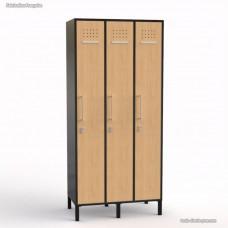 Armoire vestiaire graphite en bois fabriquée en France - largeur 30 cm