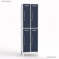 Vestiaire casier blanc en bois fabrication française - largeur 30 cm