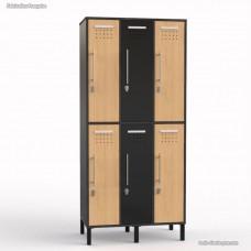 Vestiaire casier bois graphite fabriqué en France - largeur 30 cm