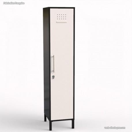 Vestiaire casier en bois graphite fabrication française - largeur 40 cm