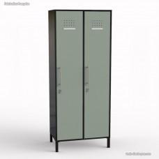 Vestiaire pour bureau graphite bois fabriqué en France - largeur 40 cm