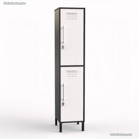 Vestiaire en bois coloris graphite largeur 40 cm - Fabriqué en France