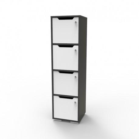 Vestiaire multicases en bois graphite CASEO pour bureaux