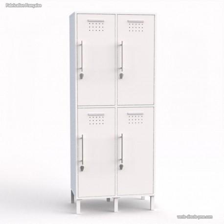 Vestiaire de bureau en bois blanc bois cases largeur 40 cm