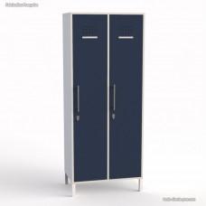 Vestiaire de bureau blanc en bois portes largeur 40 cm