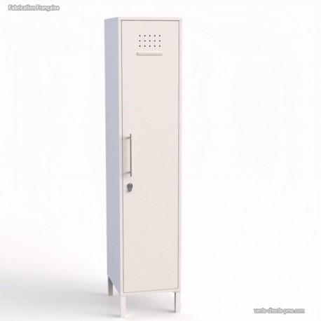 Vestiaire bois blanc fabrication française - largeur 40 cm