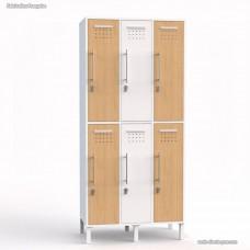Vestiaire collectif avec casiers blanc fabriqué en France - largeur 30 cm