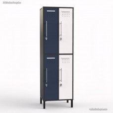 Meuble vestiaire graphite en bois 4 portes largeur 30 cm