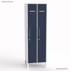 Vestiaire pour entreprise bois blanc 2 cases largeur 30 cm
