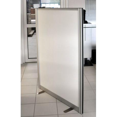 Cloison amovible pour bureau, open space pas cher cadre alu blanc 140