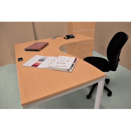Bureau professionnel en bois hêtre 160 cm pour entreprises – Vente Directe PME