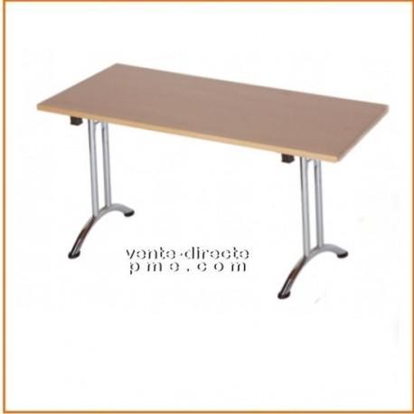 Table pliante d'appoint empilable acier chromé domi - Vente Directe PME