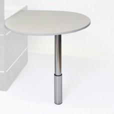 Table appoint en bois blanc convient pour extension de bureau en entreprise