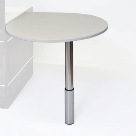 Table appoint en bois blanc pour extensions de bureaux