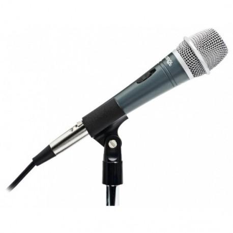 Micro pour conférence à main gris pour pupitre orateur, discours