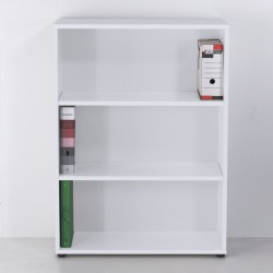 Armoire rangement en blanc pour un espace d'accueil ou une salle de réunion dans des entreprises ou associations