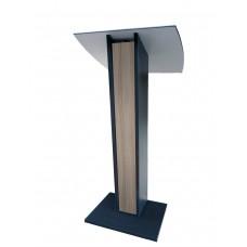 Pupitre de conférence en bois sonorisé avec écritoire inclinée