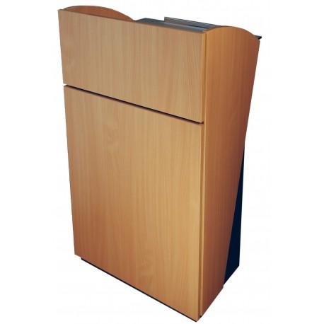 pupitre pour conf rence en bois h tre avec barre repose pied d 39 entreprise. Black Bedroom Furniture Sets. Home Design Ideas