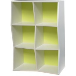 Etagère de bureau en bois vert pour rangement d'archives et documents idéals pour des écoles ou salles de sport