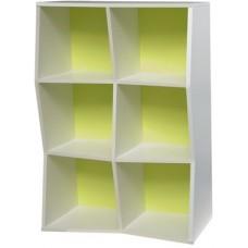 Meuble étagère en bois design à casiers pour rangement en entreprise
