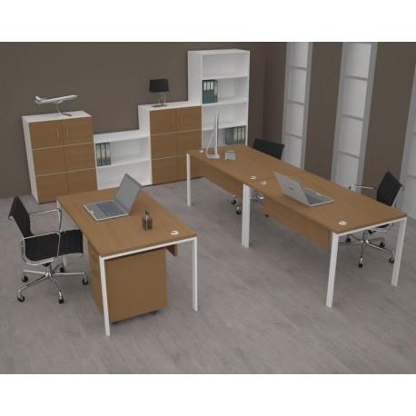 Bureau professionnel en bois, bureau de direction pour entreprise