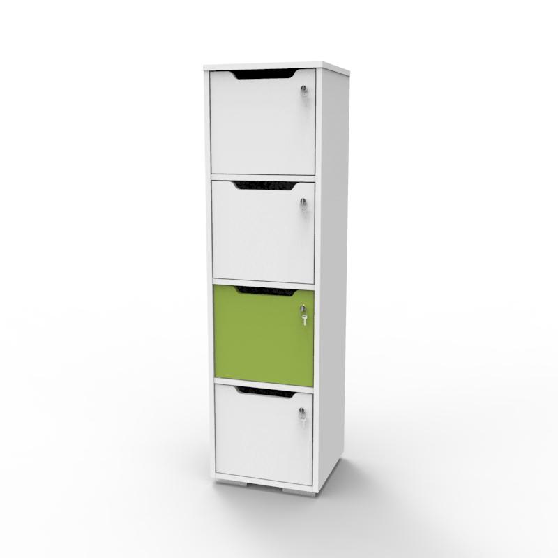 Vestiaire multicases en bois vert fabriqué en france idéal en entreprise et association / mairie souhaitant ajouter de l'espace de rangement