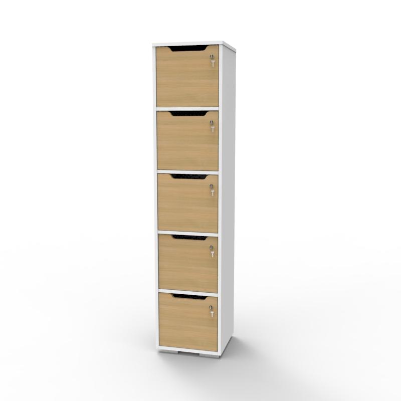 Vestiaire de bureau en bois chêne fabriqué en france et livré monté décliné en plusieurs coloris au choix pour convenir aux besoins des entreprises et collectivités de type CHR