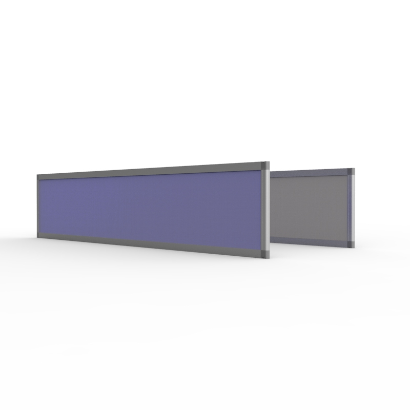 Cloison acoustique pour bureau super acoustique 35x160 cm convenant aux grands bureaux disposés en longueur