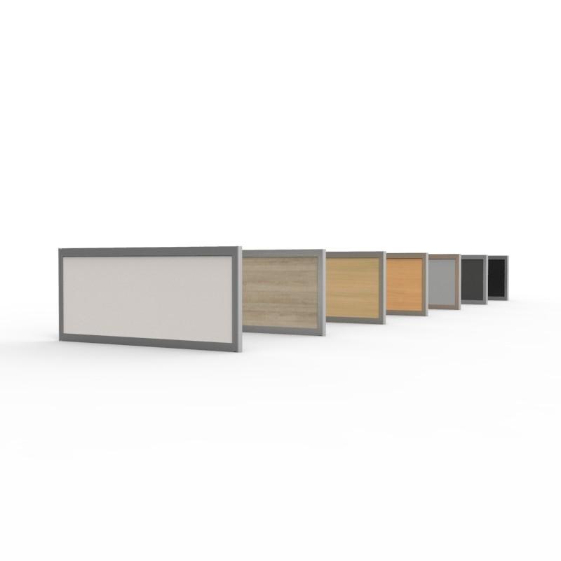 Cloisons amovibles bureau en bois 35x80 cm se pose ou se fixe directement sur vos bureaux et convenant particulièrement pour des bureaux de taille standard