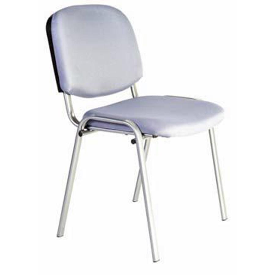 Siège de bureau gris avec dossier et assise large recouverts de mousse pour bureaux et salles de réunion d'entreprise