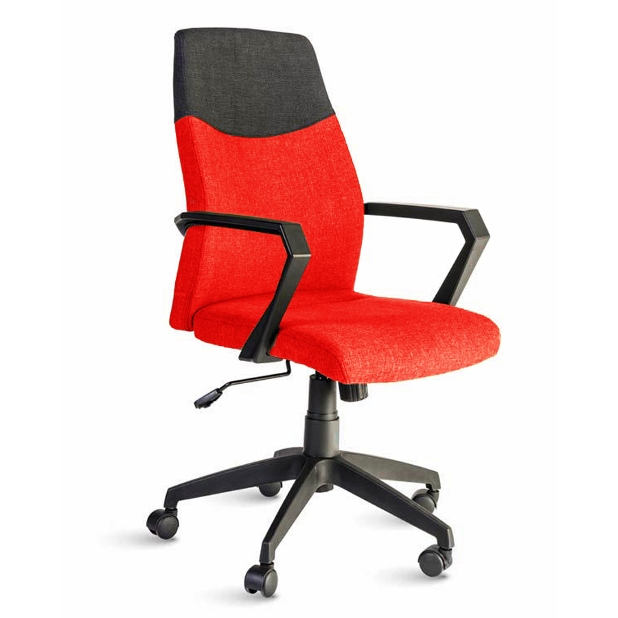 Fauteuil de bureau rouge destiné aux directeures et managers d'entreprise souhaitant un fauteuil ergonomique et adapté à leur fonction