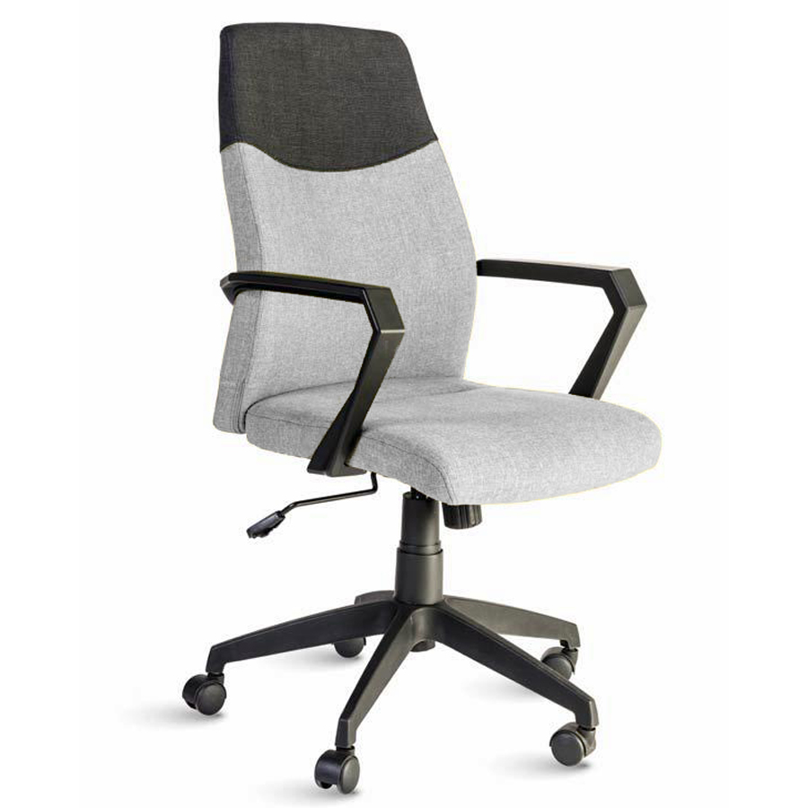 Fauteuil de bureau gris destiné aux directeures et managers d'entreprise souhaitant un fauteuil ergonomique et adapté à leur fonction