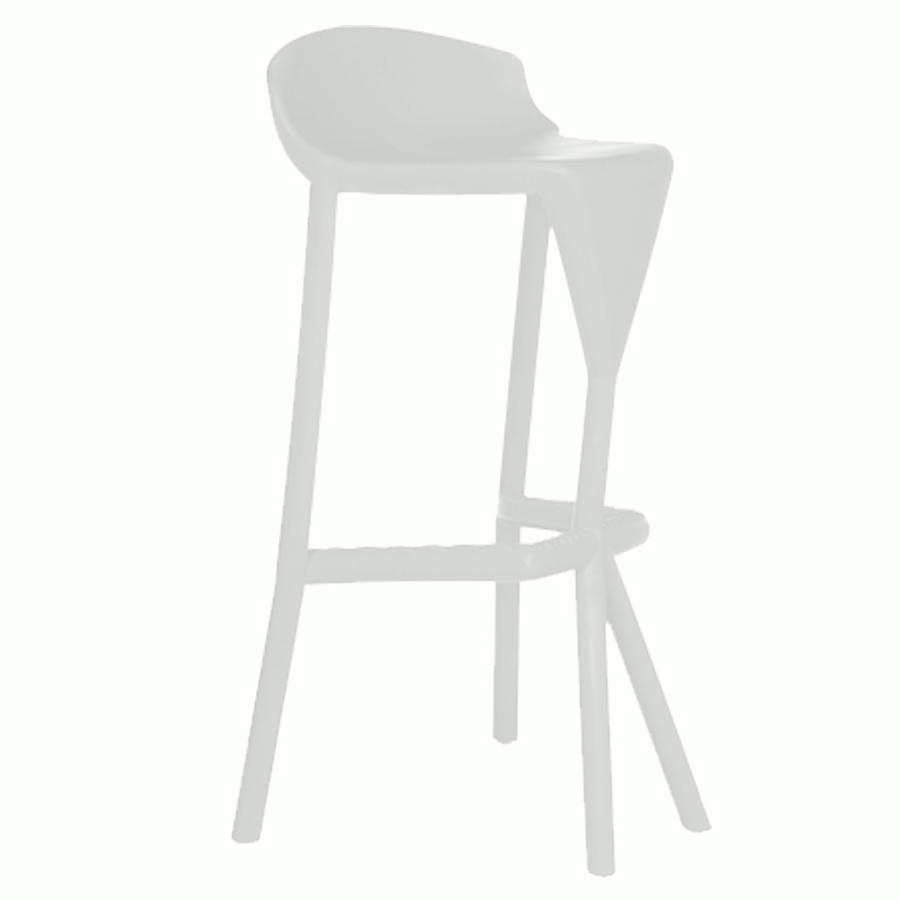 Tabouret haut blanche pour mange debout de salle de pause / coin cuisine ou bureau d'entreprise