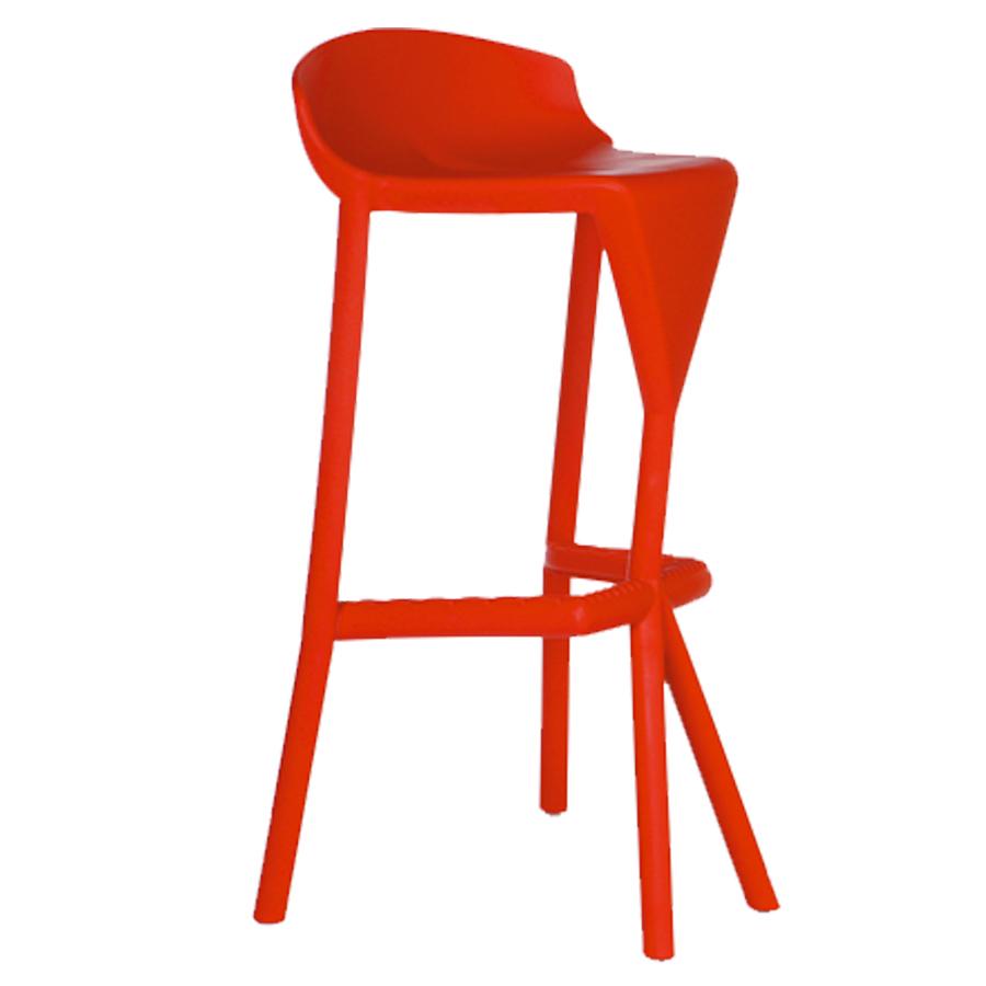 Tabouret haut rouge pour mange debout de salle de pause / coin cuisine ou bureau d'entreprise