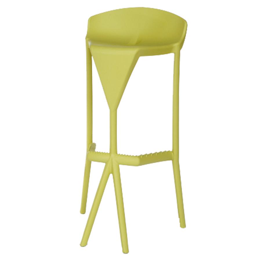 Tabouret haut verte pour mange debout de salle de pause / coin cuisine ou bureau d'entreprise